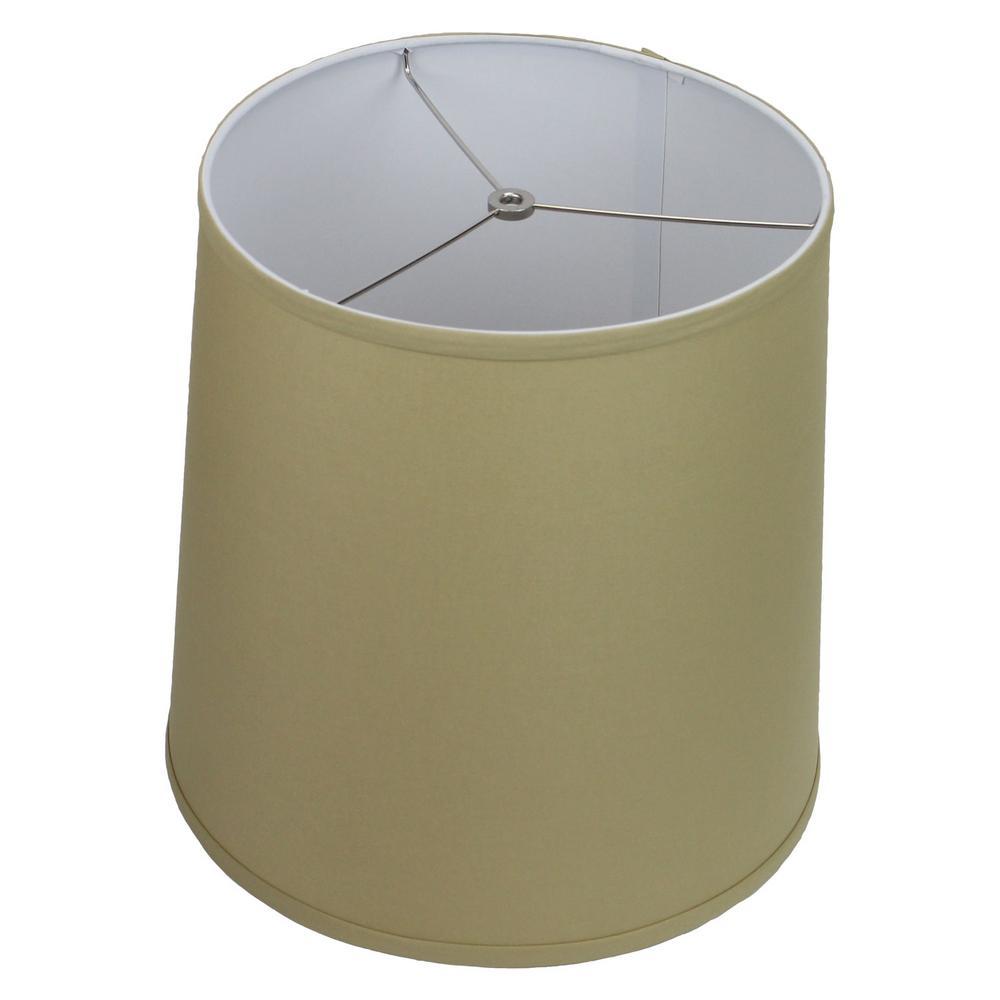 Fenchel Shades 13 in. Top Diameter x 15 in. Bottom Diameter x 15 in. Slant,  Empire Lamp Shade - Linen Straw