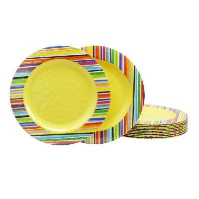 Color Celebration Yellow Dinner Plate (Set of 12)