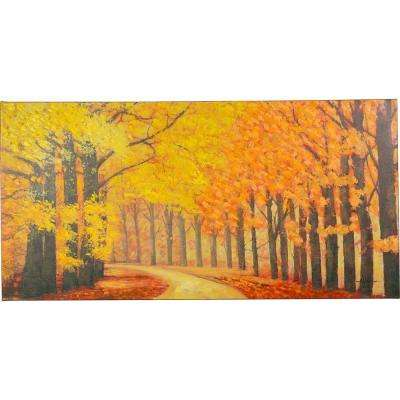 "28 in. x 56 in. ""Pristine Trail"" Hand Painted Canvas Wall Art"
