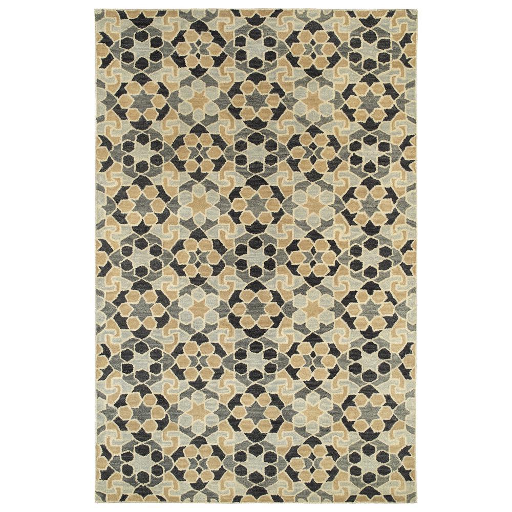 KALEEN RUG CO. Art Tiles Charcoal (Grey) 2 ft. x 3 ft. Ar...