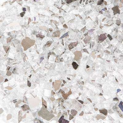1/4 in. 10 lbs. Crystal Ice Reflective Tempered Fire Glass
