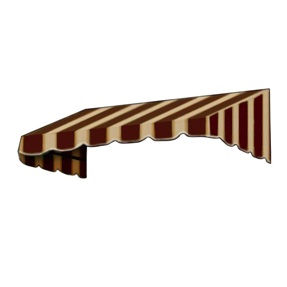 AWNTECH 5 ft. San Francisco Window/Entry Awning (44 in. H x 36 in. D) in Brown/Tan Stripe