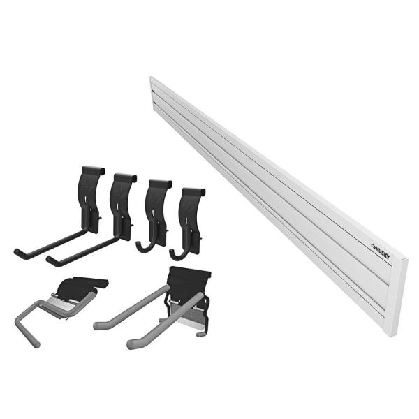 8 in. x 55 in. Slat Wall Panel Starter Kit (8-pieces)