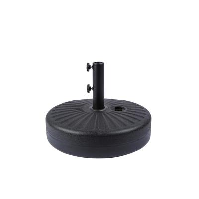 20 in. Round Hard Plastic Free-Standing Patio Umbrella Base in Black