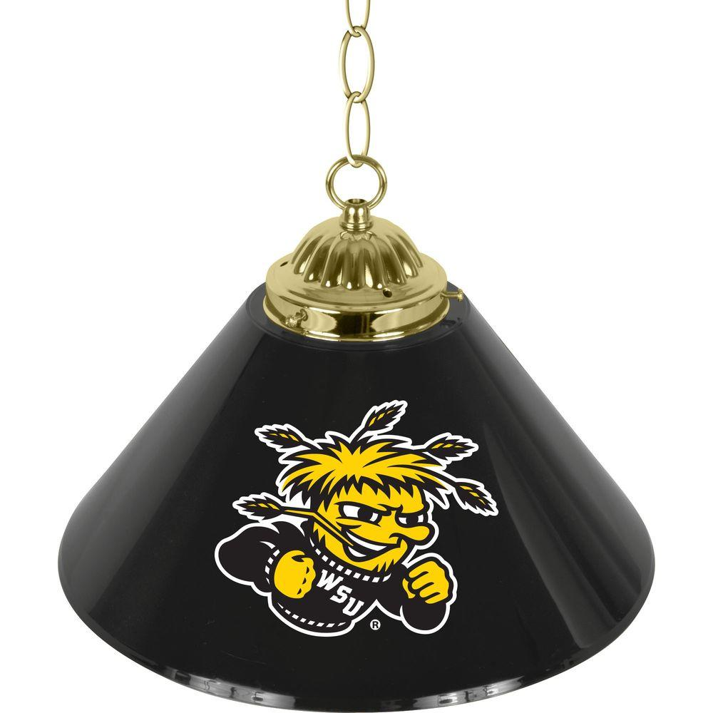 Wichita State University 14 In Single Shade Brass Hanging