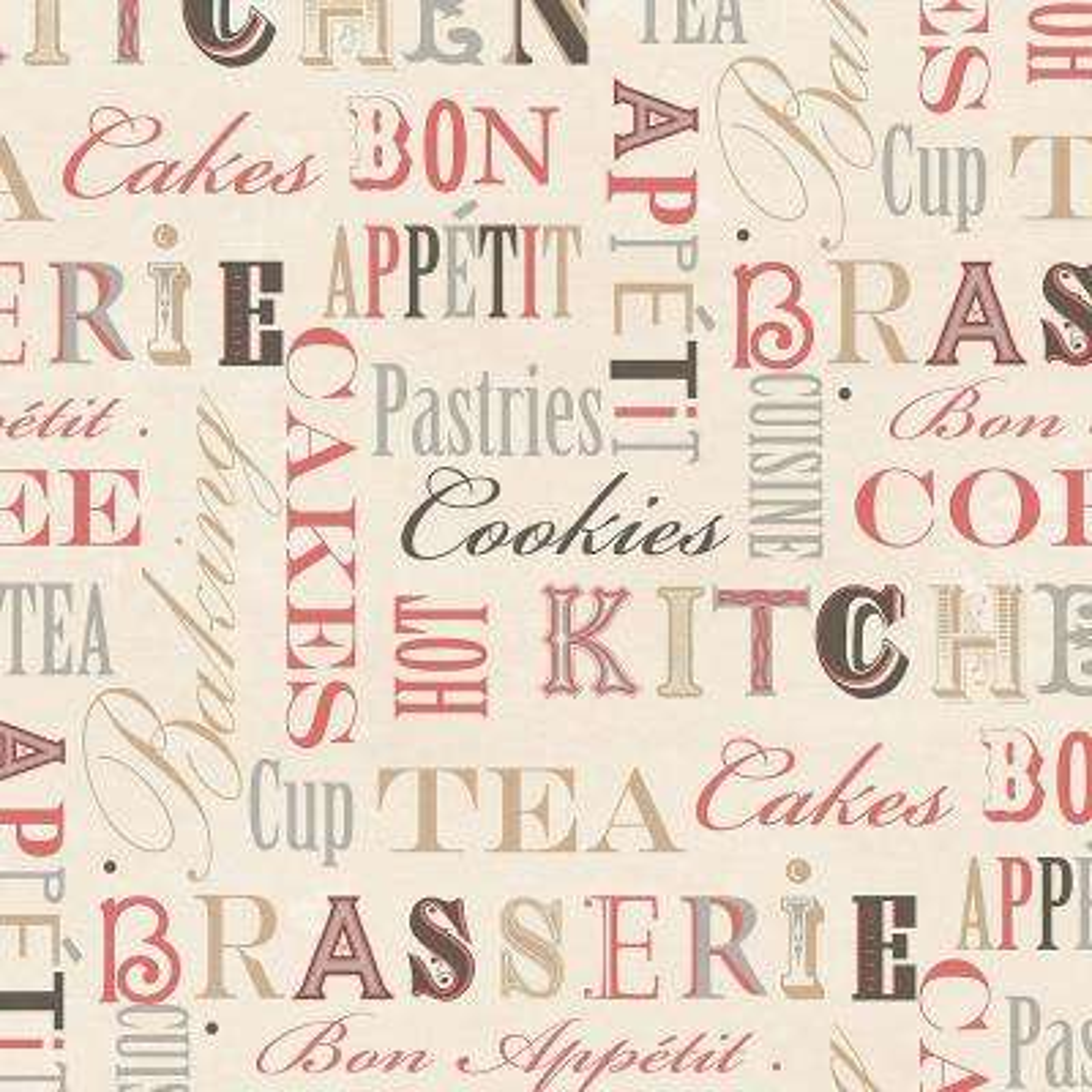 Kitchen Script Wallpaper