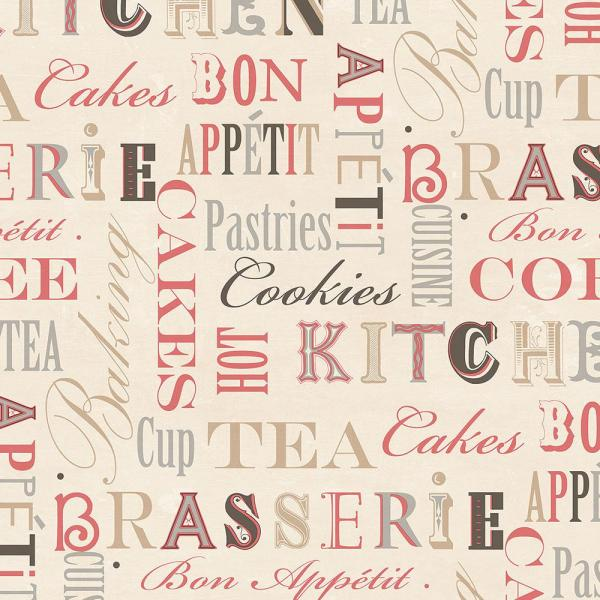 Norwall Kitchen Script Wallpaper Kc28542 The Home Depot