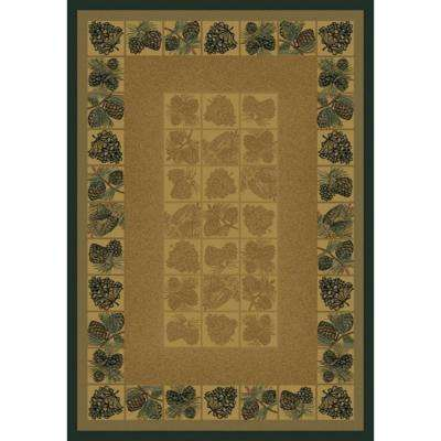 Pine Cones Natural 8 ft. x 11 ft. Area Rug