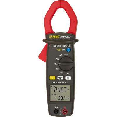 Dual Display True RMS Clamp Meter with Temperature