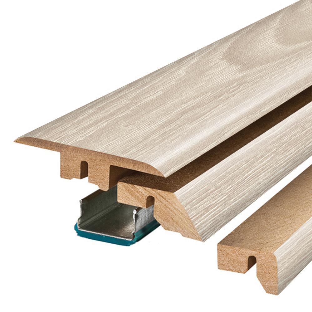 Soft Oak Glazed/White Whisper Maple Oak .75 in. Thick x 2.37 in. Wide x 78.75 in. Length Laminate 4-in-1 Molding
