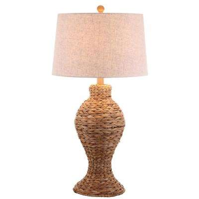 Elicia 31 in. Natural Seagrass Weave Table Lamp