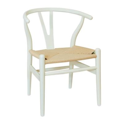 """Mid Century Modern """"W"""" Ivory Dining Side Chair"""