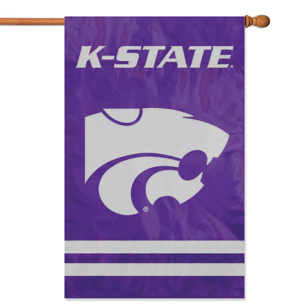 Kansas State Wildcats Applique Banner Flag