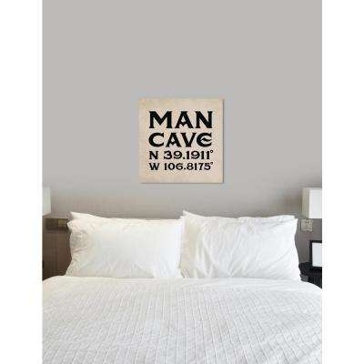 """""""Mancave Coordinates"""" by Oliver Gal Canvas Wall Art"""