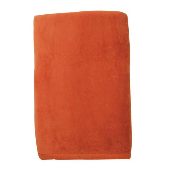 Reviews For The Company Store Cotton Fleece Persimmon Woven Throw Blanket Ko18 Thrw Persimmon The Home Depot