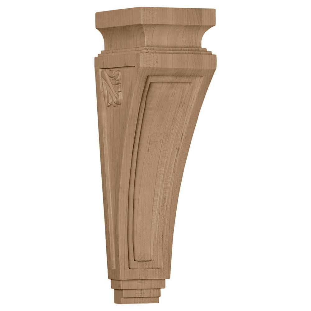 Ekena Millwork 3-7/8 in. x 4-1/2 in. x 14 in. Cherry Arts and Crafts Corbel