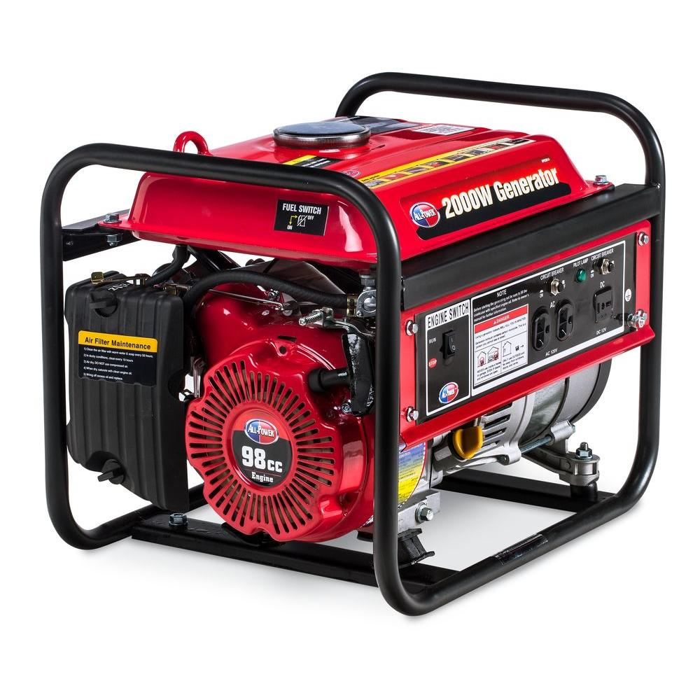All Power 2,000-Watt Gasoline Powered Portable Generator with Open Frame