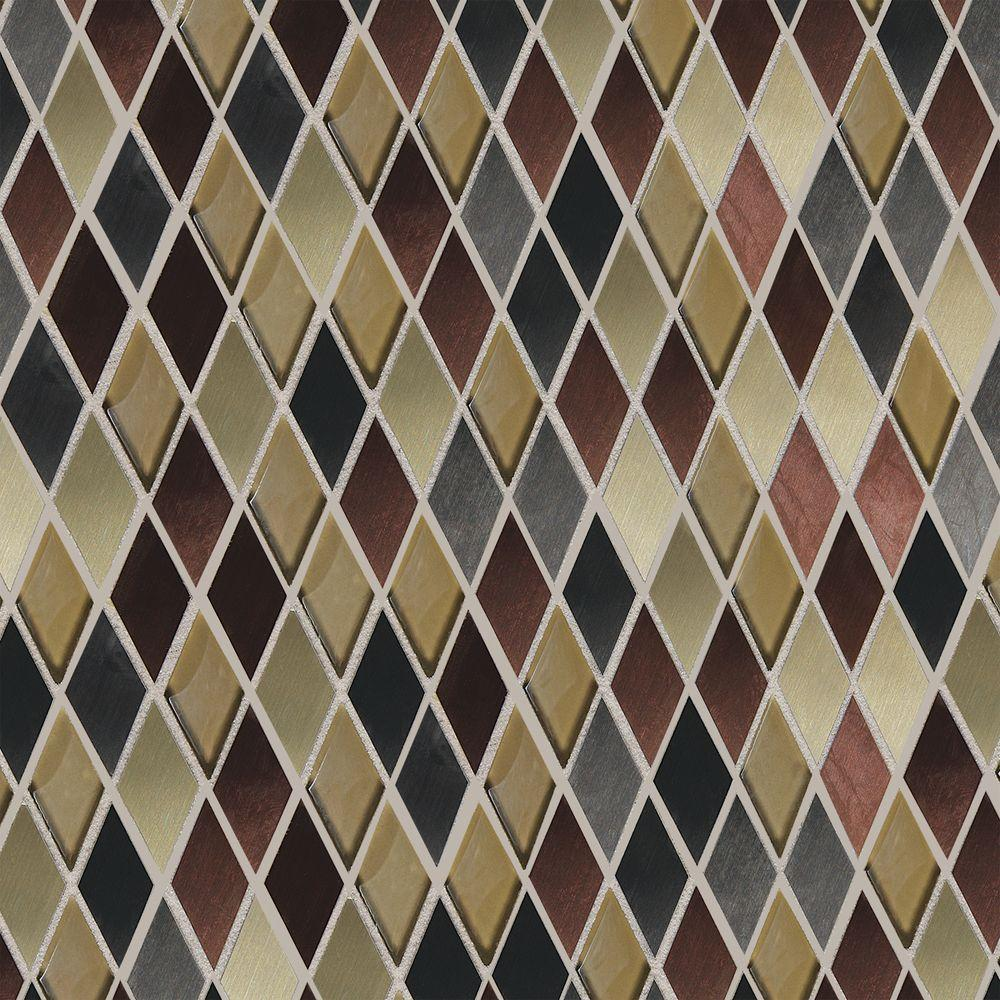 Daltile fashion accents copper blend 12 in x 12 in x 8 mm glass daltile fashion accents copper blend 12 in x 12 in x 8 mm glass and stone harlequin mosaic wall tile fa6311harms1p the home depot dailygadgetfo Image collections