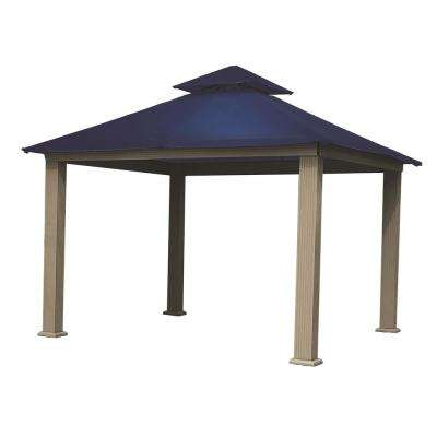 14 ft. x 14 ft. ACACIA Aluminum Gazebo with Admiral Navy Canopy