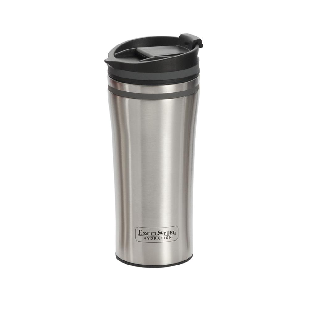 Excelsteel 15 Oz Grey Double Wall Stainless Steel Coffee Tumbler