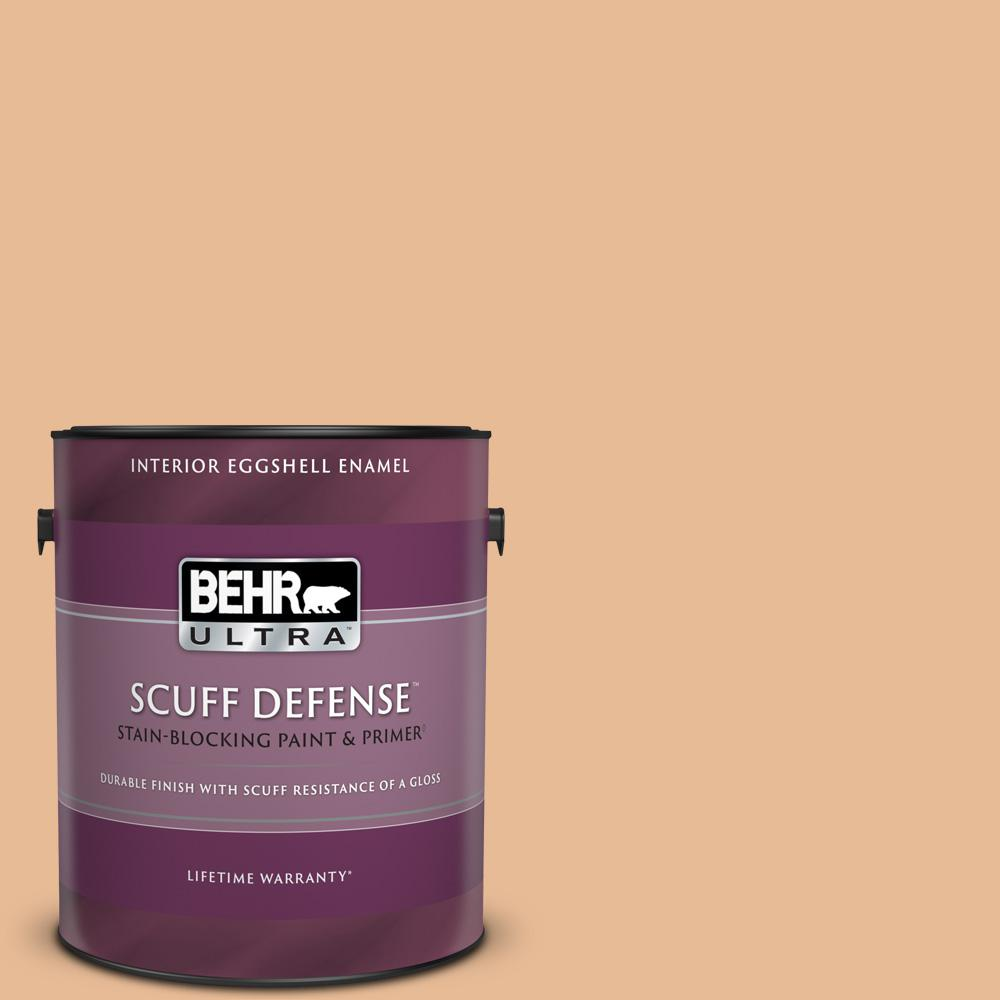 Behr Ultra 1 Gal 280c 3 Fresh Praline Extra Durable Eggshell Enamel Interior Paint And Primer In One 275401 The Home Depot
