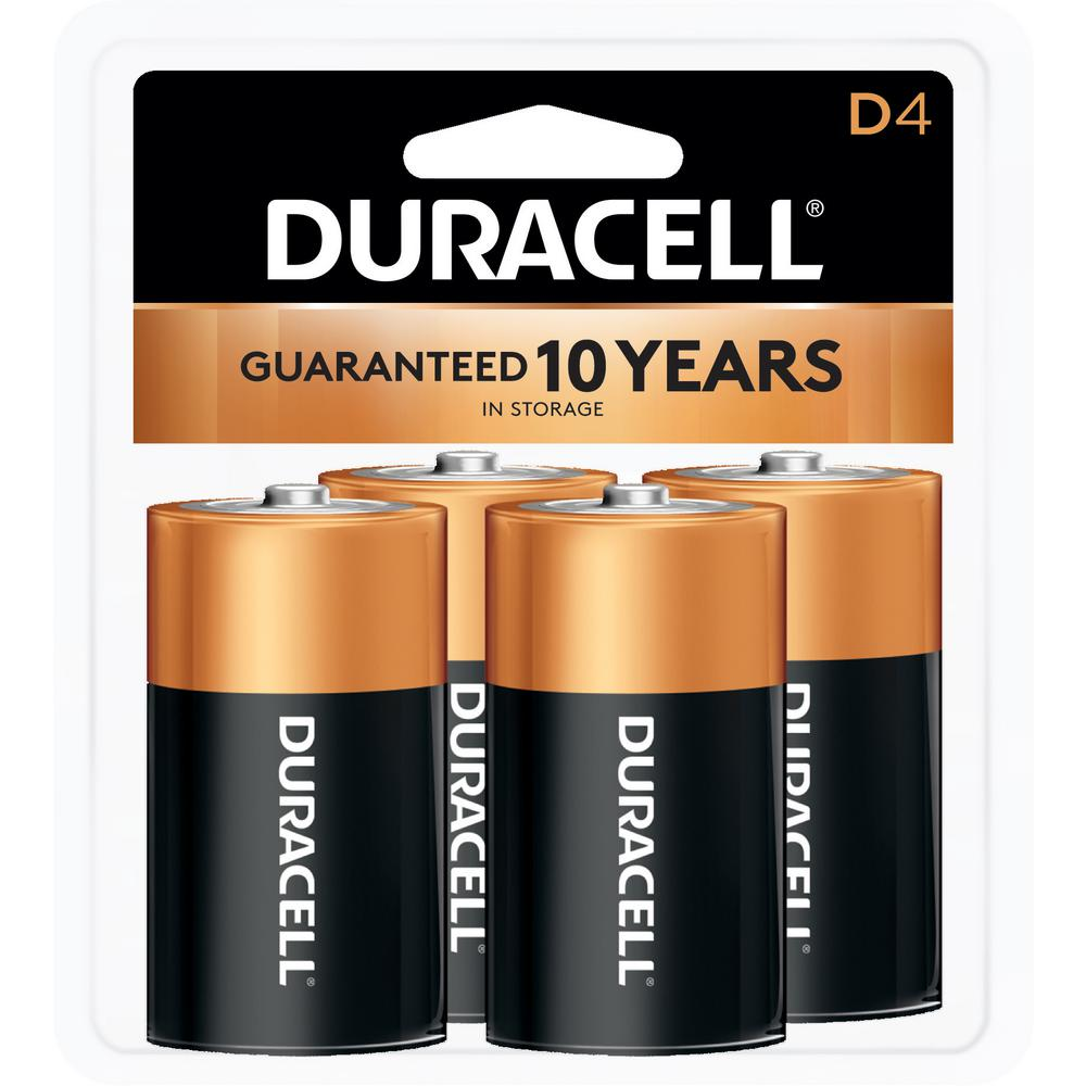 Duracell Coppertop Alkaline Size D Battery (4-Pack)