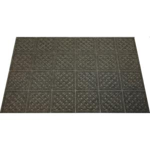 Walnut Lattice 24 inch x 36 inch Door Mat by