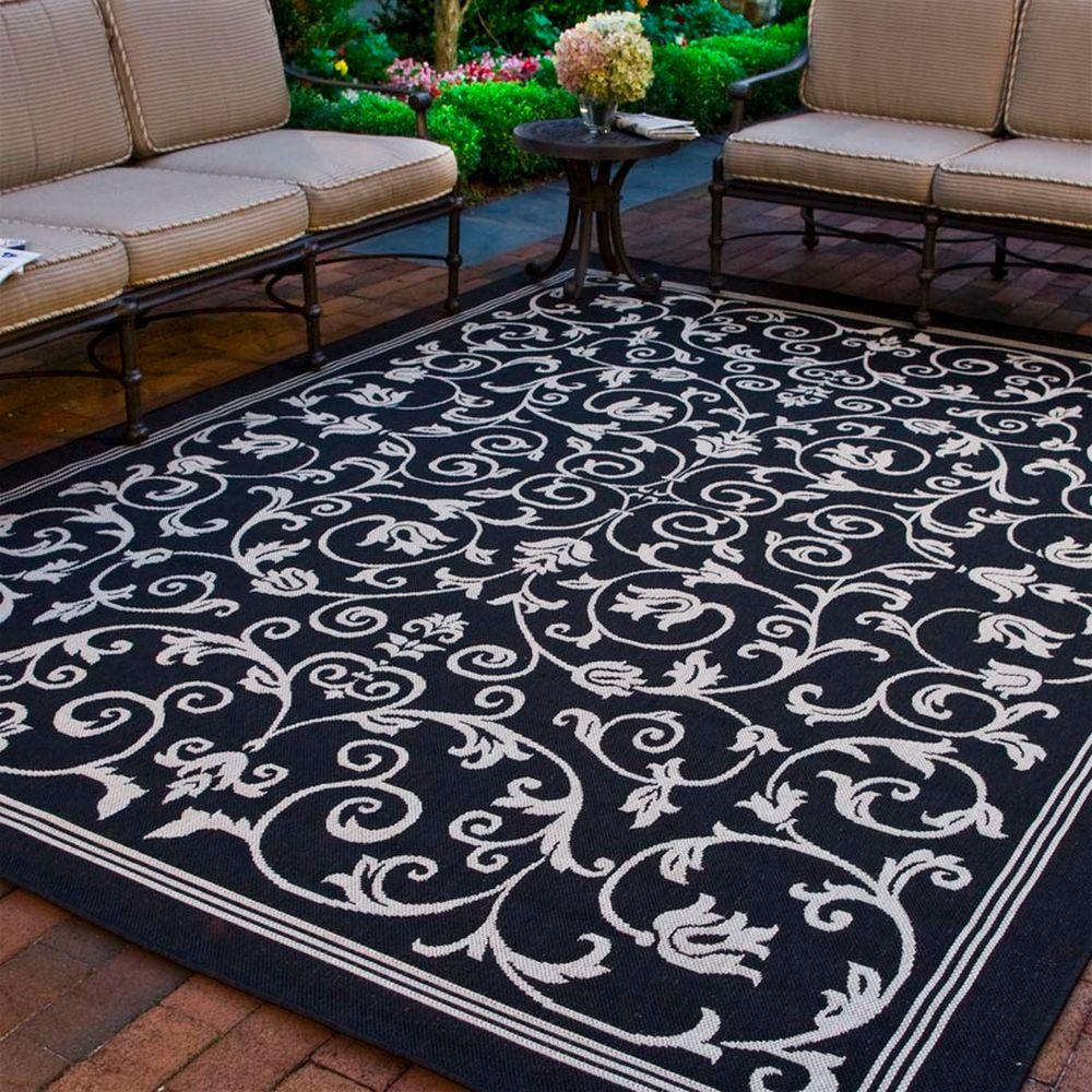 Safavieh Courtyard Black 8 Ft X 11 Ft Indoor Outdoor