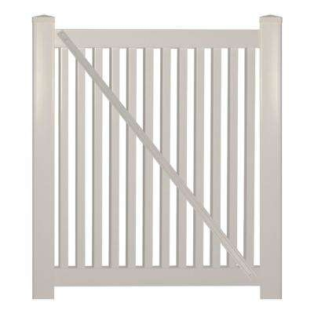 Williamsport 4 ft. W x 4 ft. H Tan Vinyl Pool Fence Gate