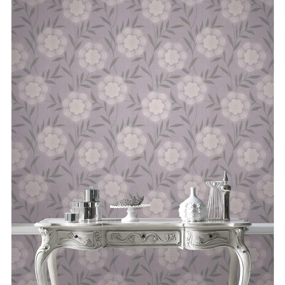 Flora Lavender Removable Wallpaper Sample