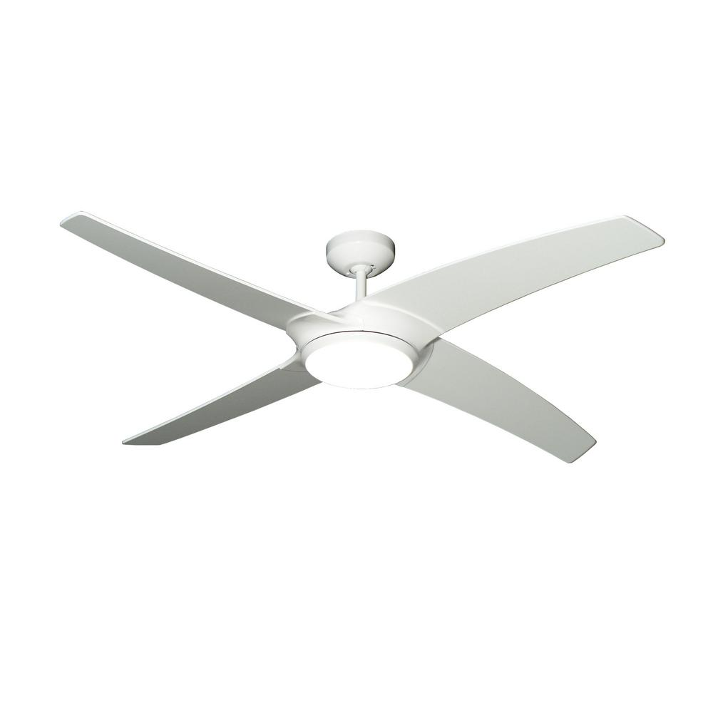 TroposAir Starfire 56 In. Pure White Ceiling Fan With LED