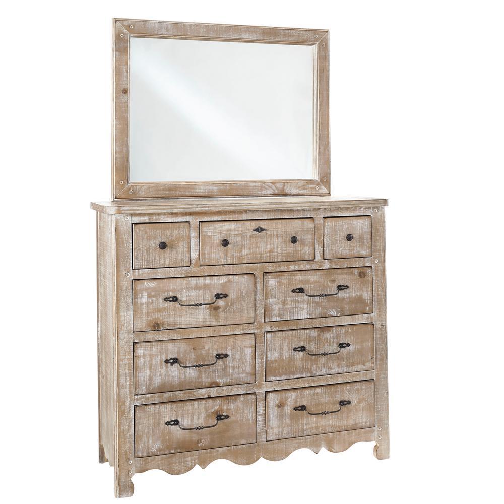 Progressive Furniture Chatsworth 9-Drawer Chalk Dresser with Mirror B643-23/50