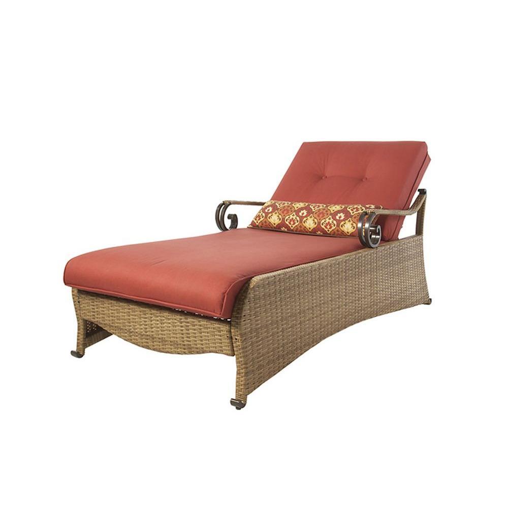 Martha Stewart Living Belle Isle Patio Chaise Lounge-DISCONTINUED