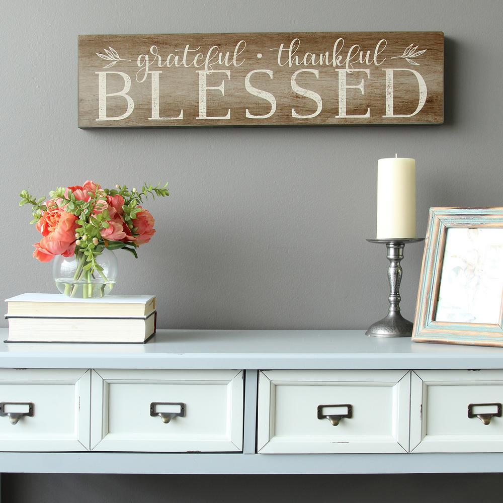 "Stratton Home Decor ""Grateful, Thankful, Blessed"