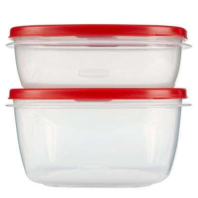Easy Find Lids 10-Piece Red Food Storage Container Set