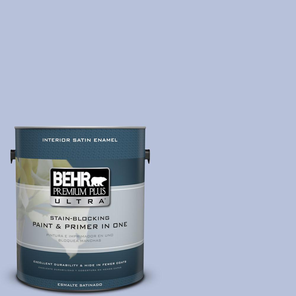 1 gal. #610C-3 Virginia Blue Satin Enamel Interior Paint