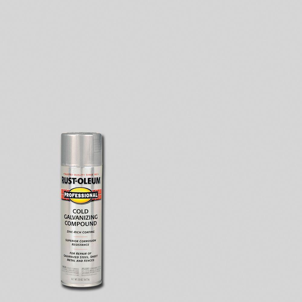 Rust-Oleum Professional 20 oz. Flat Gray Cold Galvanizing Compound Spray