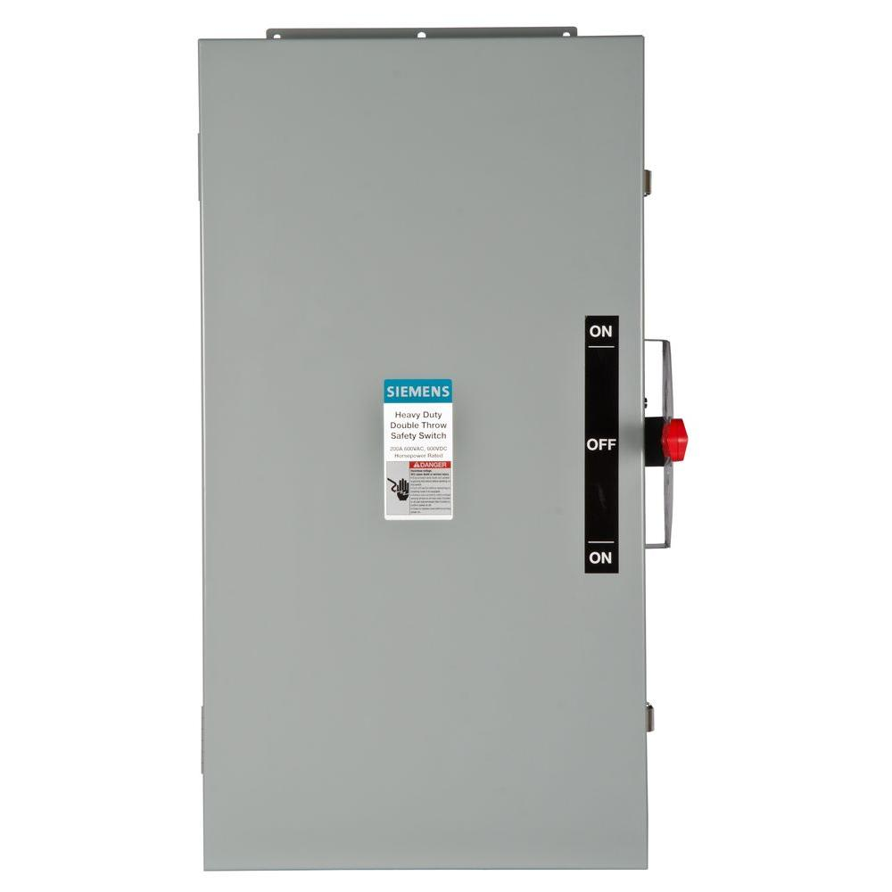 Siemens Double Throw 200 Amp 600-Volt 3-Pole Type 12 Non-Fusible Safety Switch
