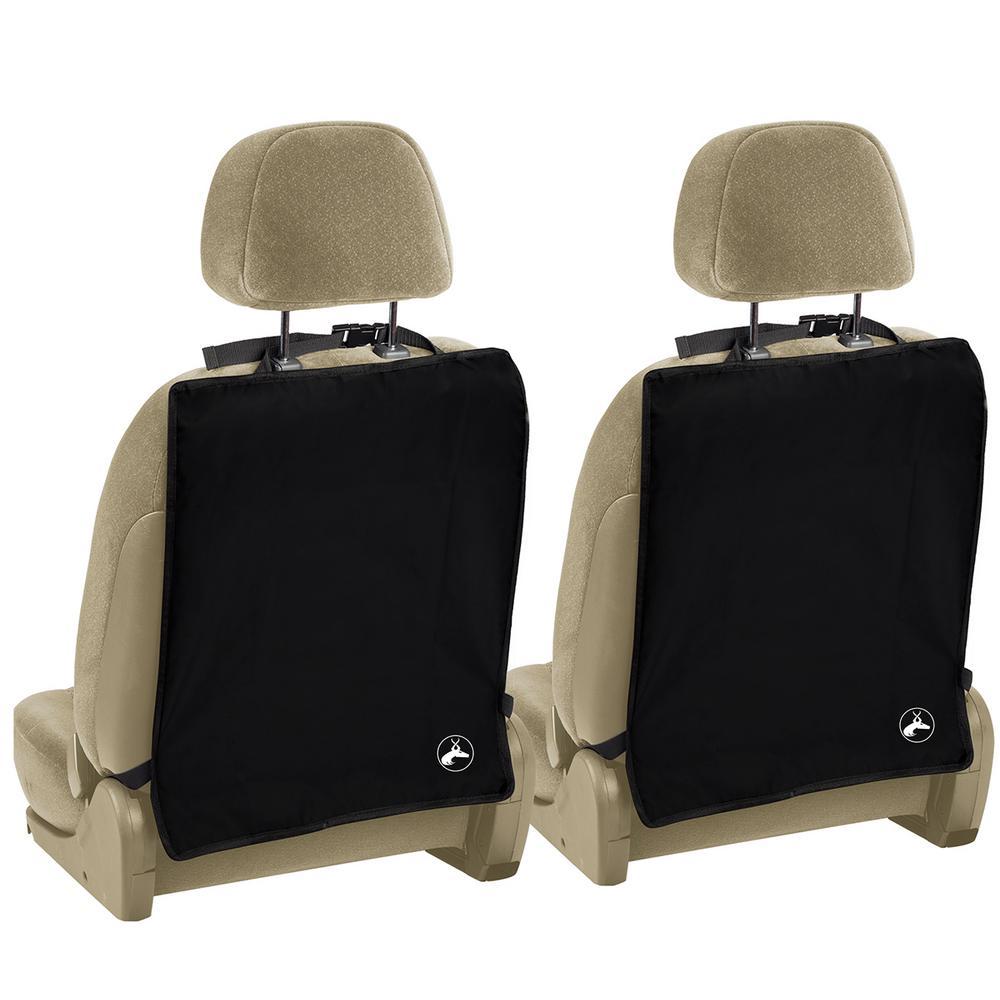 Seat Kick Mats 22.25 in. L x 0.1 in. W x 17 in. H Black (2-Pack)