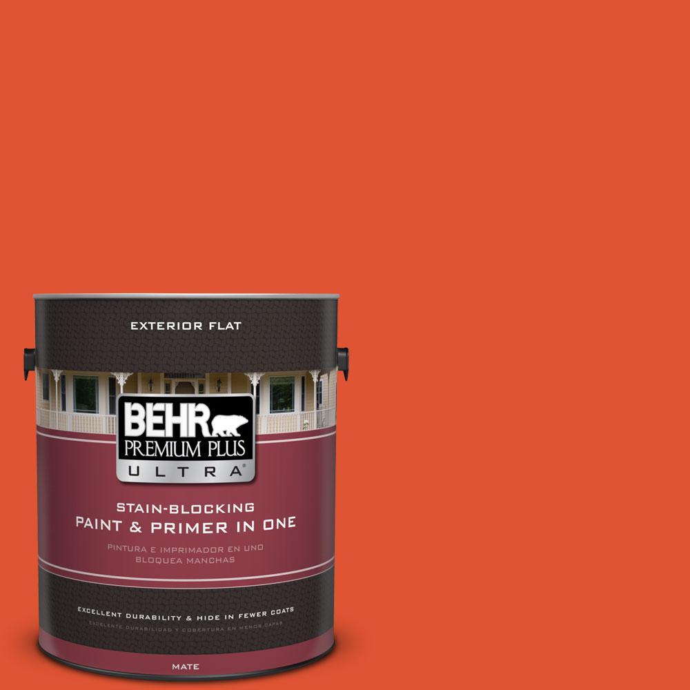 BEHR Premium Plus Ultra 1-gal. #S-G-210 Volcanic Blast Flat Exterior Paint
