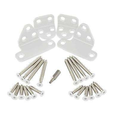 Regency/Enclave White Stainless Steel Line Rail Hardware Kit