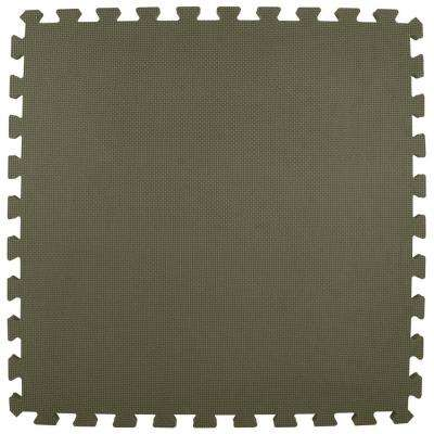 Economy Foam Gray 2 ft. x 2 ft. x 1/2 in. Interlocking Puzzle Floor Tiles (Case of 20)