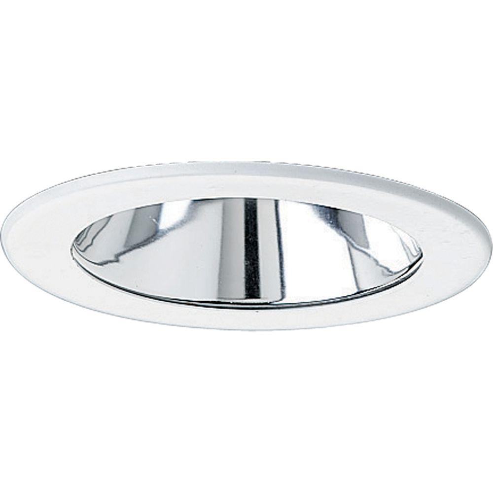 purchase cheap 96056 95317 Progress Lighting 4 in. 12-Volt Clear Alzak Recessed Reflector Trim