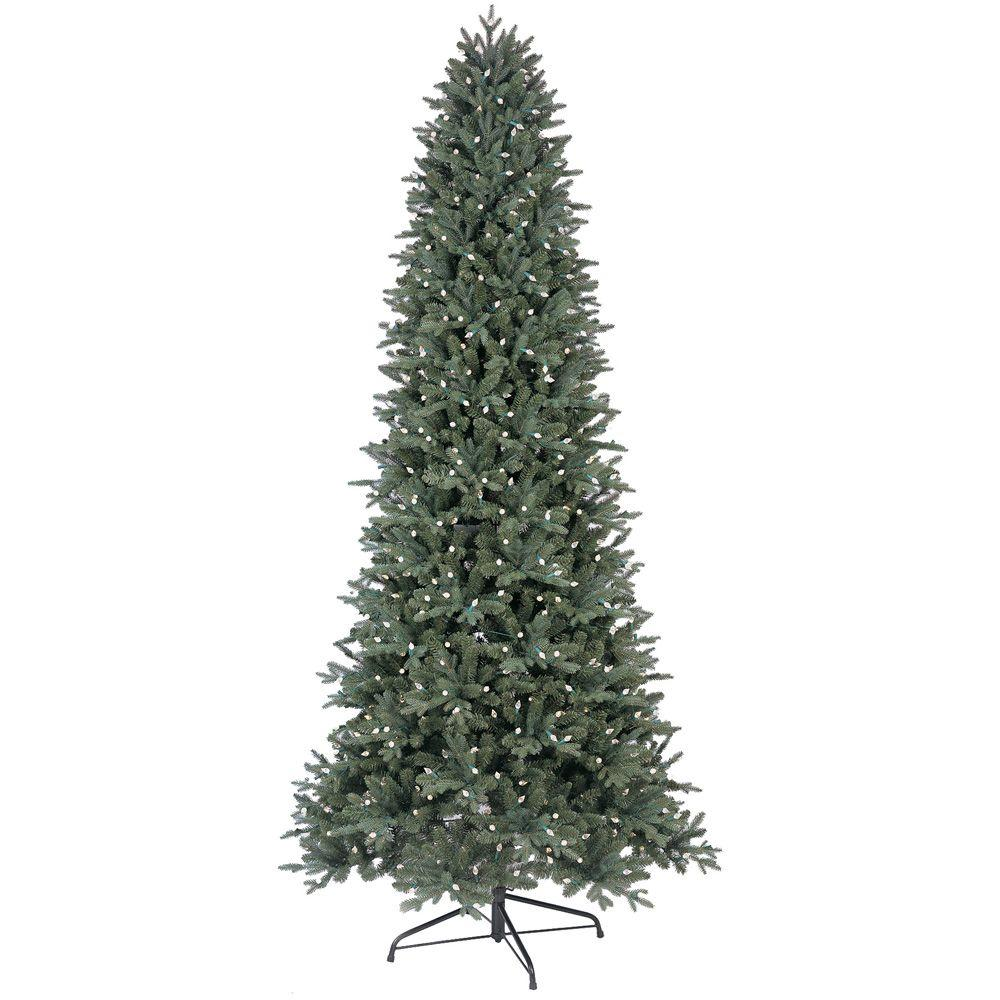 9 ft. LED Indoor Just Cut Deluxe Aspen Fir Artificial Christmas