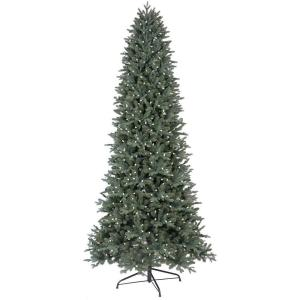 GE 9 ft. LED Indoor Just Cut Deluxe Aspen Fir Artificial Christmas ...
