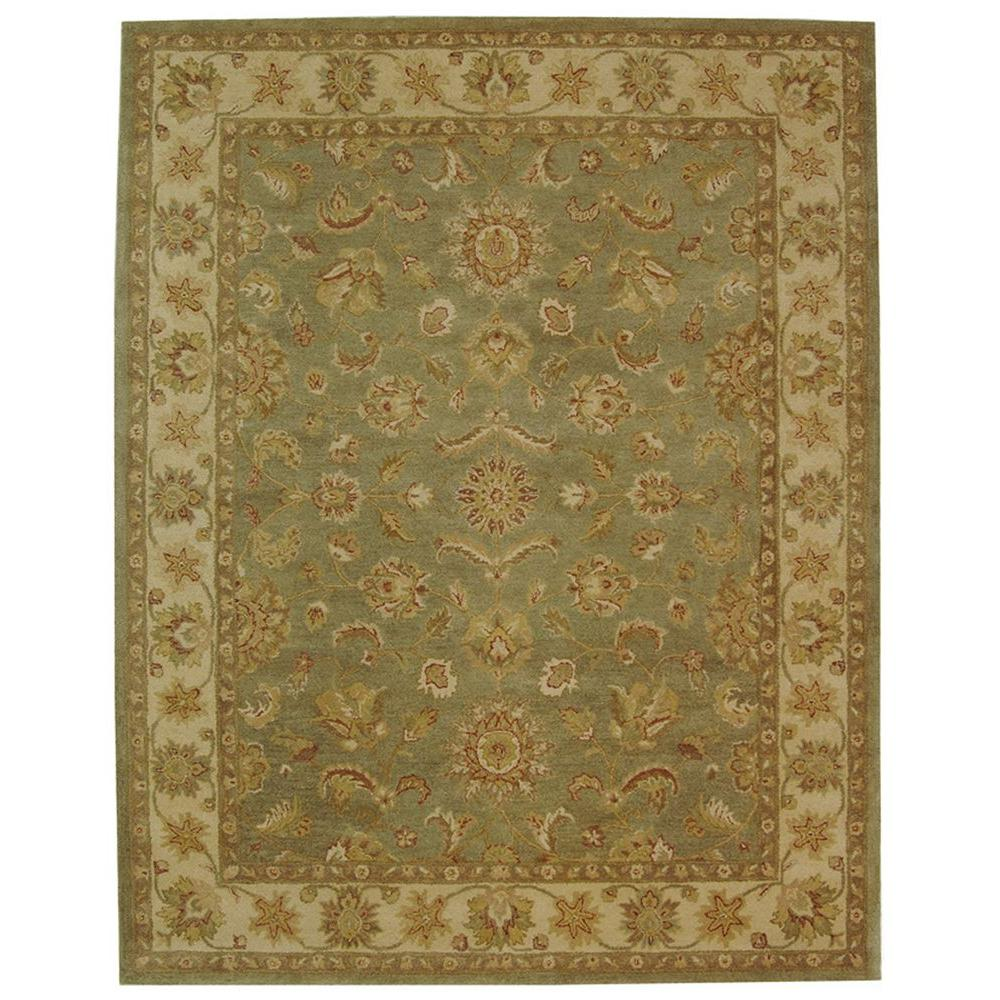Antiquity Green/Gold 5 ft. x 8 ft. Area Rug