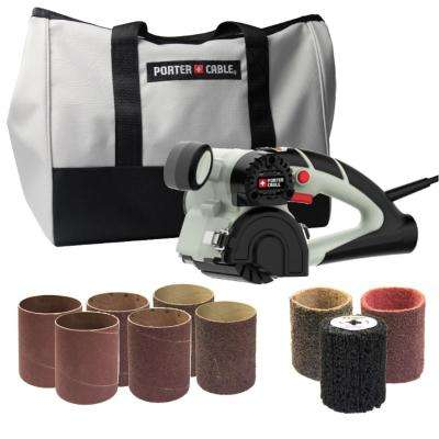 Restorer 3.5 Amp Corded 3 in. x 4 in. Variable Speed Sander Kit with Carrying Bag and 9 Accessories