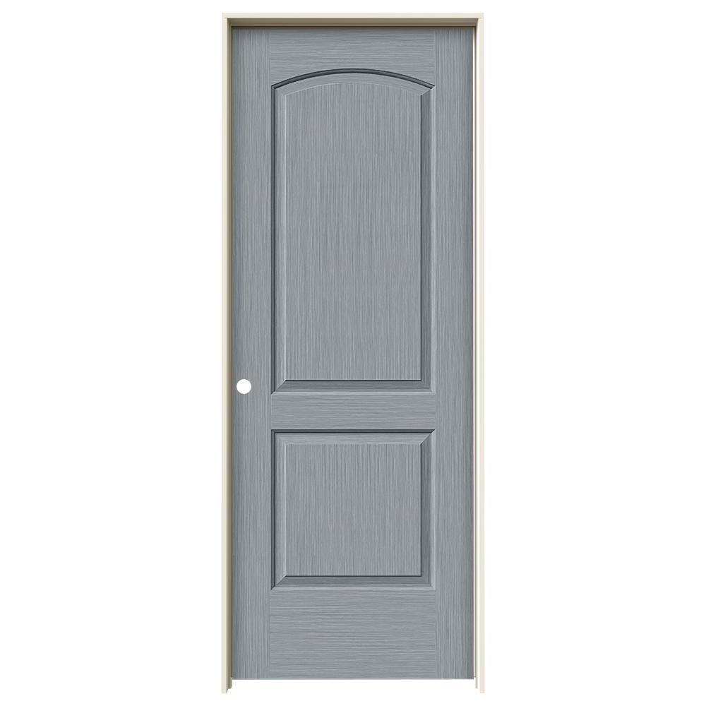 Jeld wen 32 in x 80 in continental stone stain right for Solid core mdf interior doors