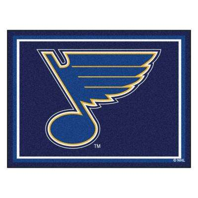 NHL St. Louis Blues Navy Blue 8 ft. x 10 ft. Indoor Area Rug