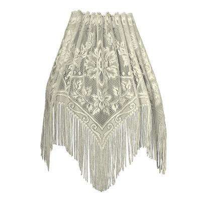 Gala 60 in. L Polyester Valance in Ecru